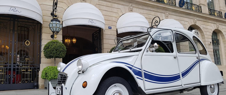 Location 2CV à Paris, 2cv Paris Tour, visite de paris en 2cv avec chauffeur - Hôtel