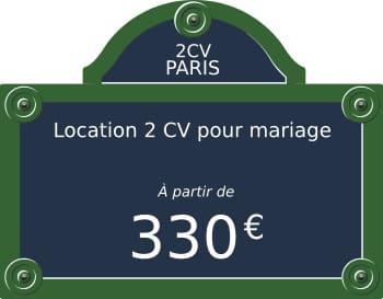Location 2CV à Paris avec chauffeur / 2CV Paris Tour - 2 CV mariage