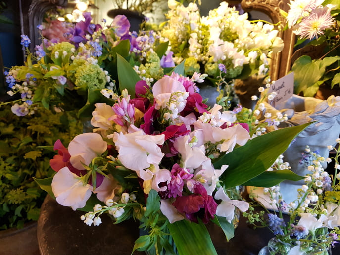 Soirée romantique à Paris en 2CV - Fleurs